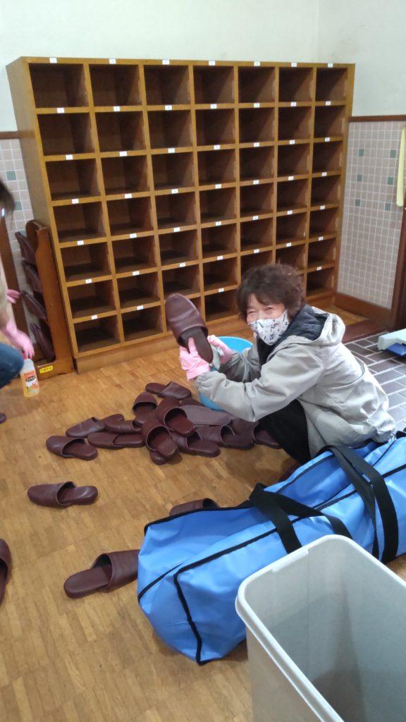 片倉記念館の清掃